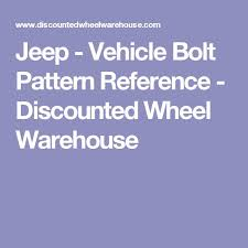 2002 jeep grand lug pattern jeep vehicle bolt pattern reference discounted wheel warehouse