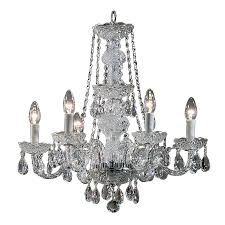 Chrome Crystal Chandelier by Shop Classic Lighting Monticello 22 In 6 Light Chrome Crystal