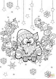christmas owl zentangle coloring free printable coloring pages