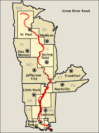 road map of iowa usa great river road map america s byways