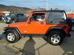 jeep rubicon orange impact orange 2006 jeep wrangler rubicon 4x4 exterior photo