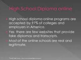 is online high school is online high school diploma accepted