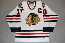 authentic blackhawks jersey hockey nhl ebay