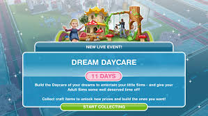 the sims freeplay dream daycare live event the who games