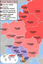 map of eastern european countries which other east european countries were ruled by communist