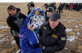 soyuz crew back safely on earth