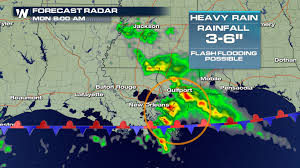 Louisiana Weather Map by Heavy Rain For Southeast Louisiana Monday Morning Weathernation