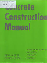 concrete construction manual