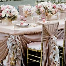 fancy white blush pink chiffon ruffled wedding chair covers chair