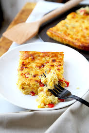 lightened up corn casserole pickled plum food and drinks