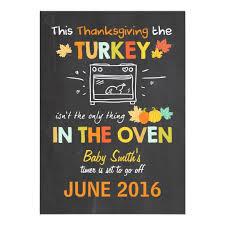 thanksgiving pregnancy announcement turkey zazzle