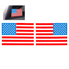 Free American Flag Stickers 1 Pair 6 Inch American Flag Usa Mirrored Reverse Vinyl Decals For
