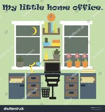 my little home office flat style stock vector 403455574 shutterstock