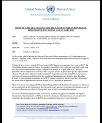 bureau de la coordination des affaires humanitaires ochadrc unocha drc