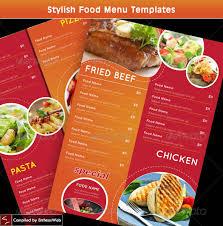 Template For Menu Design stylish food menu templates entheos