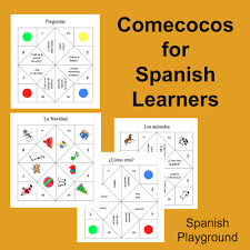 thanksgiving spanish activities spanish game u2013 printable cootie catchers spanish playground