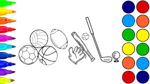 learn colors coloring book soccer ball coloring pages soccer
