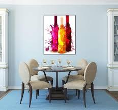 tableau cuisine design tableau contemporain bouteilles de couleur artwall and co