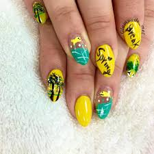 nail art beach nails by polished polyglot will paint nails for