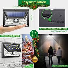 driveway motion sensor light litom solar lights outdoor 24 leds super bright motion sensor