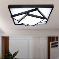 brief acrylic square led ceiling light modern fashion wrought iron