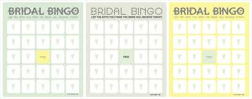wedding words for bingo the things bridal shower