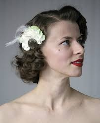 1920 hair accessories items similar to 1920s hair accessories ivory green 20s inspired