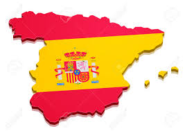 A Map Of Spain by Detailed Illustration Of A 3d Map Of Spain With Flag Eps10 Vector