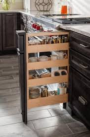 Sliding Spice Rack Medallion Cabinets Food And Pantry
