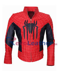 Black Leather Halloween Costumes Spideman Red Black Leather Jacket