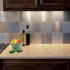 Backsplashes Countertops  Backsplashes The Home Depot - Metal backsplash