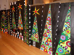 christmas trees that would be a beautiful art project idea