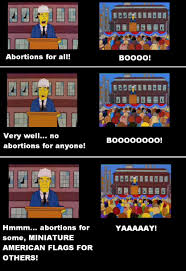 Miniature Flags The Simpsons Solved The Abortion Debate Back In 1996 Imgur