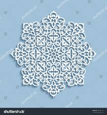 cutout paper lace doily snowflake decoration stock vector