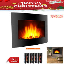 1500w electric wall mounted fireplace led heater 3d flame w