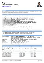 Pl Sql Developer Sample Resume by Resume Of Sugavanan Oracle Apps Technical Consultant