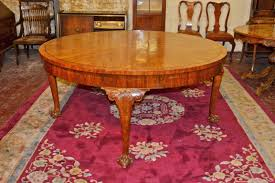 vintage queen anne dining table 5 ft round