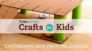 Plan Toys Wooden Parking Garage by Cardboard Parking Garage Crafts For Kids Pbs Parents Youtube