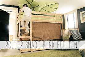 Bunk Beds Tent Grosgrain Roller Shade Bunk Bed Treehouse Tent