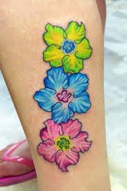 birthstone colored flowers my favorites tattoo gallery ink