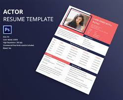 Actor Resume Format 40 Resume Template Designs Freecreatives