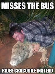 Crocodile Meme - gary the comfortable crocodile memes quickmeme