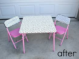 Outdoor Childrens Table And Chairs Recover A Kids Table A And A Glue Gun