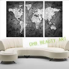 carte monde noir et blanc vente en gros carte du monde noir toile d u0027excellente qualité de