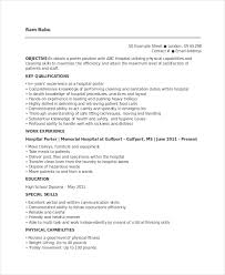 Hospital Resume Sample by Porter Resume Template 6 Free Word Pdf Documents Download
