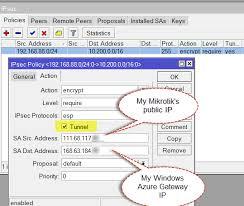 cara membuat vpn ip di mikrotik creating a site to site vpn with windows azure and mikrotik