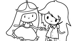 finn jake coloring pages finn princess bubblegum coloring