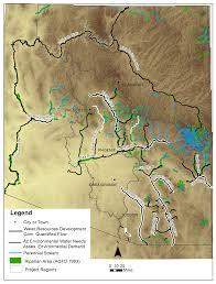 The Wave Arizona Map by Arizona Environmental Water Needs Assessment Wrrc Arizona Edu