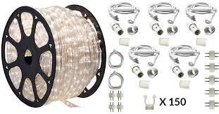 150 ft moonlight led rope light kit 120v ledropekits moonlight