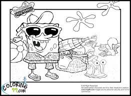 spongebob summer coloring pages transmissionpress spongebob and